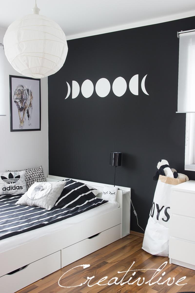 schwarze wand creativlive. Black Bedroom Furniture Sets. Home Design Ideas