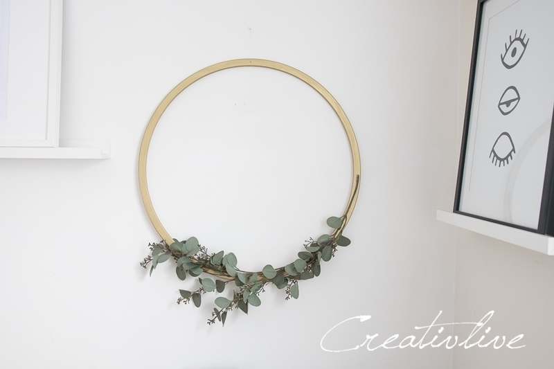 Metallring mit Eukalyptus Zweigen