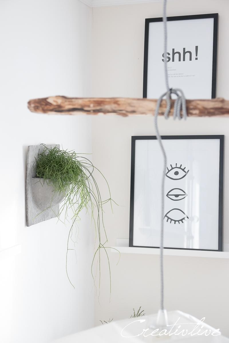 Wandtopf aus Papierbeton