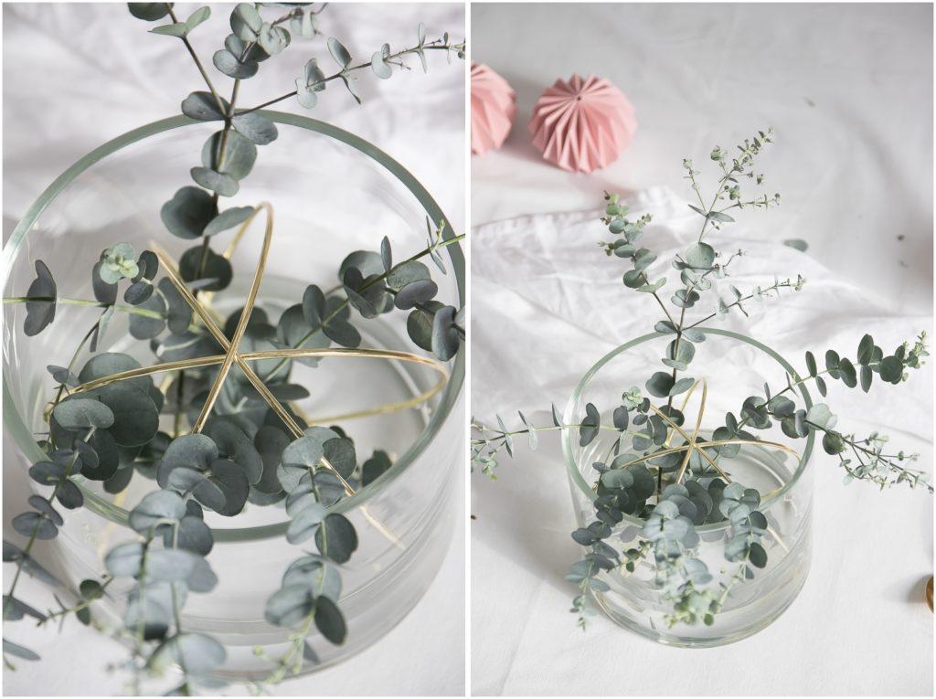 Vase mit Eucalypthus