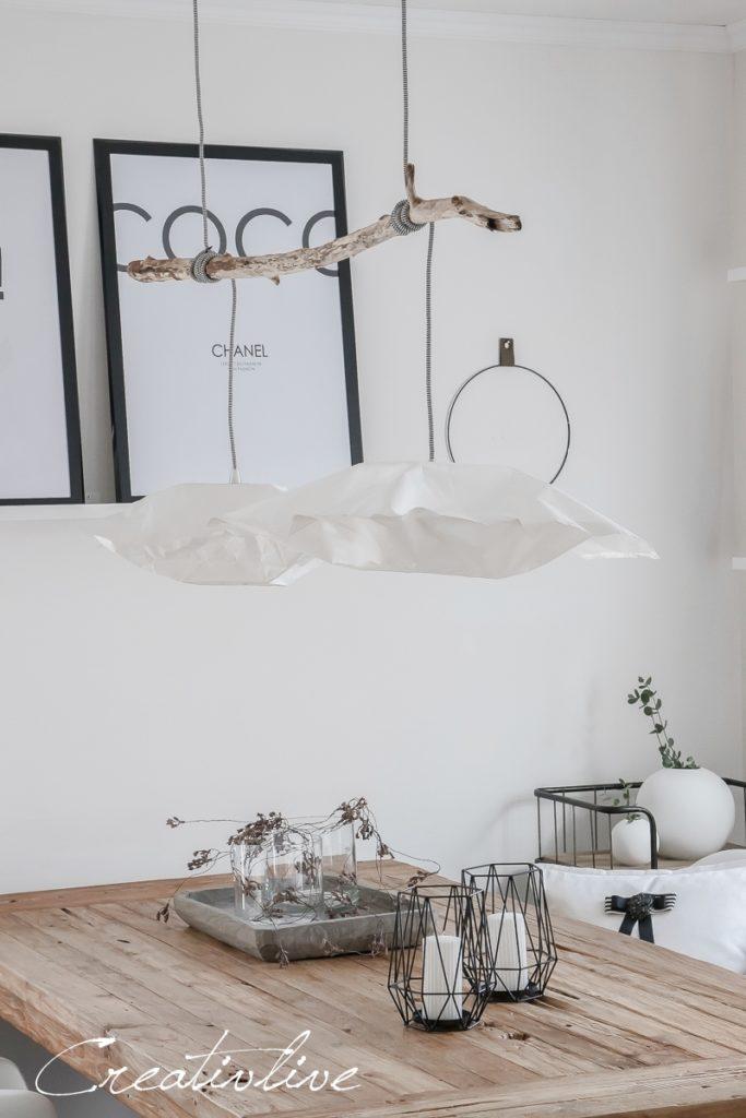 diy papierlampe wie ikea varmluft creativlive. Black Bedroom Furniture Sets. Home Design Ideas