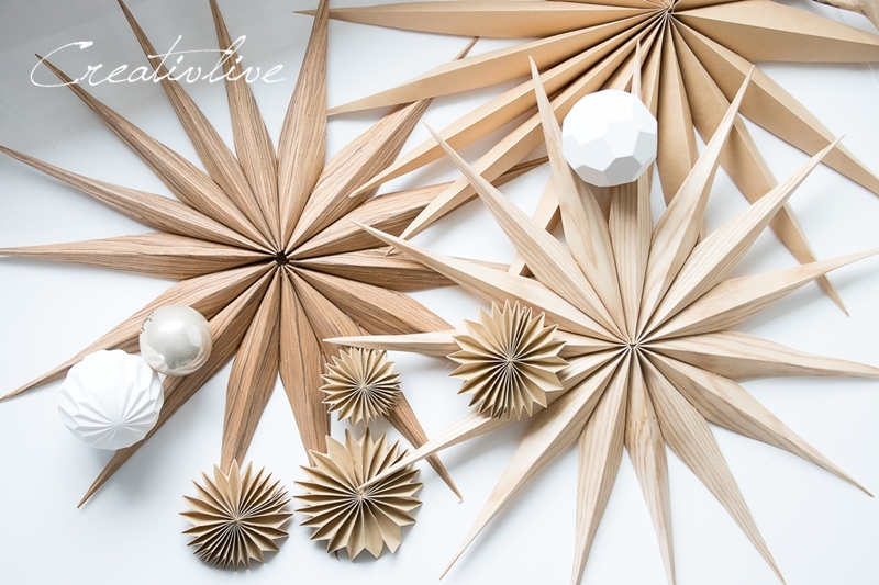Diy Einfache Sterne Und Plissees Aus Holz Und Kraftpapier