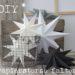 DIY Papiersterne und weihnachtlicher Blumenstrauß